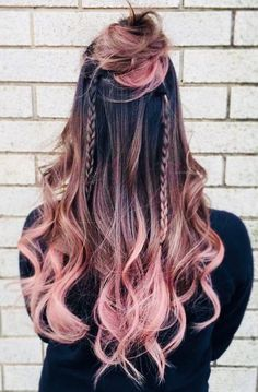 Dark Ombre Hair Ideas for Brunettes ★ See more… Dark Ombre Hair, Grey Hair, Ombre For Long Hair, Dye For Dark Hair, Ombre Rose Gold Hair, Pastel Ombre Hair, Dyed Hair Ombre, Purple Ombre, Hair Dye Colors