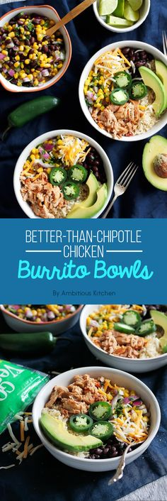 Better-Than-Chipotle Chicken Burrito Bowls   7 Delicious Dinners That Are Under 500 Calories Each