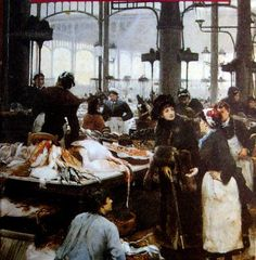 Victor Gabriel Gilbert (France, 1847-1935) ~  Les Halles Centrales