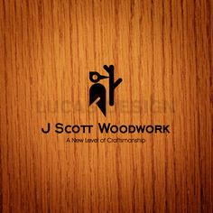 J SCOTT WOODWORK logo design - woodcraft company
