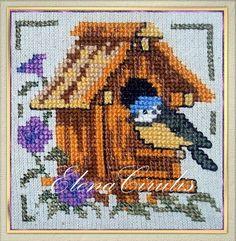ElenaCirulis — «моя вышивка» на Яндекс.Фотках Bird Cage, Bird Houses, My Works, Cross Stitch, Teddy Bear, Embroidery, Animals, Punto De Cruz, Needlepoint