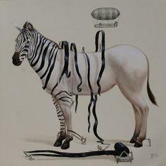 L'artiste Ricardo Solis a imaginé une série dans laquelle des petits homment créent les animaux