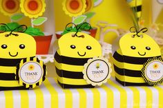 Cute favors at a Bumble Bee party! See more party ideas at CatchMyParty.com!  #bumblebee #partyideas