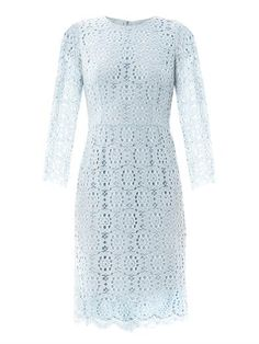 Sorbet blue #Lace long-sleeve dress | Dolce & Gabbana | MATCHESFASHION.COM