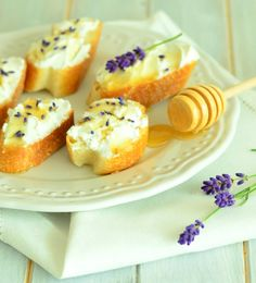 Goat Cheese-Lavender Honey with Baguette
