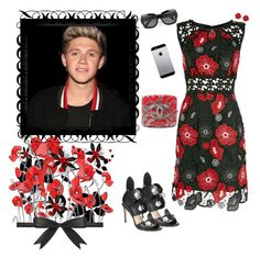 """~ Niall Horan  ~ Painting The Town Red❣"" by stylistic-1 ❤ liked on Polyvore featuring Anna Sui, Chanel and Fendi"