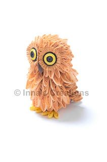 Quilled baby owl