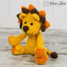 Logan the Lion Amigurumi Crochet Pattern by One and Two Company