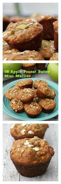 Skinny Apple Peanut Butter MIni Muffins