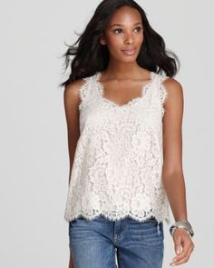 Joie Top - Cina Lace Sleeveless | Bloomingdale's