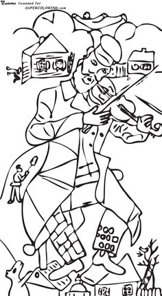 Violinist Marc Chagall.