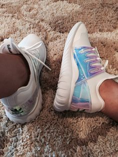 Adidas tubular radial all white iridescent shoes a2e41157d