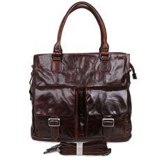 7242C JMD New Genuine Vintage Leather Bag Portfolio Handbags