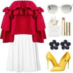 Wednesday ! by piedraandjesus on Polyvore featuring polyvore, fashion, style, Erika Cavallini Semi-Couture, Vince, Dolce&Gabbana, Ray-Ban, Stila, Marc Jacobs and clothing