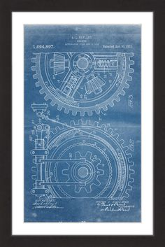 Technical drawing with gears drawings illustrations and graphics gears 1912 blueprint malvernweather Image collections