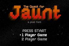 Jaunt: 8-bit pixel font by Saunter Studios on @creativemarket