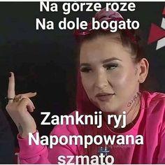 Very Funny Memes, Haha Funny, Funny Jokes, Polish Memes, Reaction Pictures, Funny Pictures, Funny Pins, Memes Humor, Best Memes
