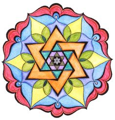 Mandala simple colours Update by dulcesarcasmo on DeviantArt