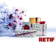 Decora tus cajas de regalo de Navidad en Retif
