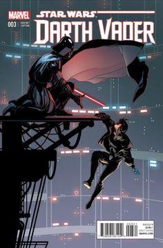 Star Wars - Darth Vader - Cover by Salvador Larroca ---- Darth Vader Comic, Star Wars Darth, Comic Book Covers, Comic Books, Star Wars Brasil, Cyberpunk, Aliens, Star Wars Comics, Marvel Comics