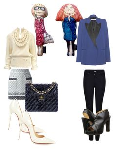 """""""vogue"""" by anna-maria-majewwska on Polyvore featuring Kahri by KahriAnne Kerr, Chanel, Victoria Beckham, Armani Jeans, Christian Louboutin and Jean-Paul Gaultier"""