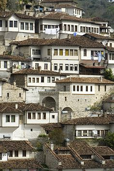 "Thanks to the Ottoman mansions Berat is also called ""The City of Thousand Windows""."
