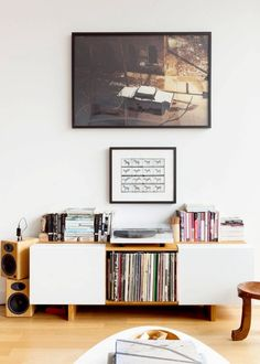 A nice sound system or record player, with your favorite music queued up.
