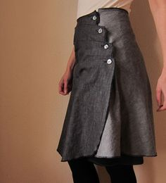 skirt with horizontal pleats tutorial and pattern DIY