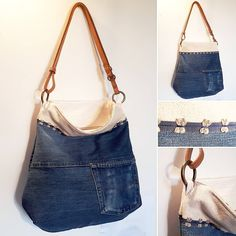#denim #jeans #reuse #upcycle #recycle #sustainablefashion #bag #bolsos #handmade #slowfashion #smallbusiness #fashrev #designers #fashion…