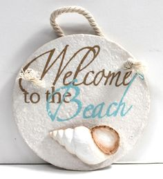 Circle Resin Welcome Sign - California Seashell Company Retail