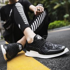 b617251f3e 2018 módní pánské boty příležitostné černé pánské letní plošinové boty pro  muže prodyšné síťoviny lehké mokasíny