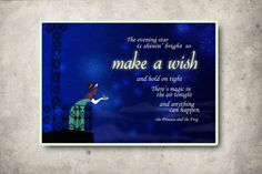 disney princess and the frog quote poster... 11x14 or custom size. $12.00, via Etsy.