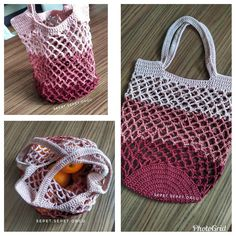 Im 😉 the most beautiful therapy knitting from those who joined the net bag caravan💕 Diy Crochet And Knitting, Crochet Tote, Crochet Handbags, Learn To Crochet, Diy Sac, Crochet Market Bag, Net Bag, Filets, Reusable Bags