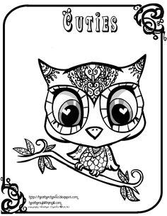 Creative Cuties: owl coloring page