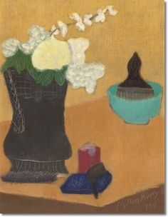 milton avery | Milton Avery - Flowers And Pipe by Milton Avery | Painting