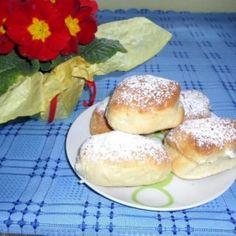 Sütőben sült fánk Csilla konyhájából Hamburger, Bread, Food, Brot, Essen, Baking, Burgers, Meals, Breads