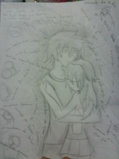 te extraño #dibujo #anime #amor #ariaz #zaito