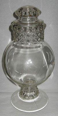 "LG Antique Dakota Glass Globe Apothecary General Store Candy Jar EAPG 14 1 4""   eBay"