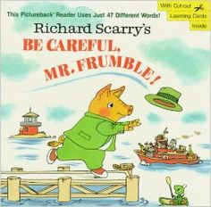 Scarry, Be Careful, Mr. Frumble!, weather, wind, clothing, hats, silly