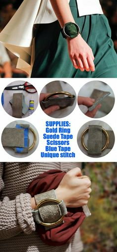 bracelet manchette cuir handmade