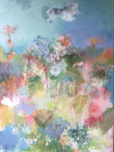 """The Garden""  36""x 48"" Acrylic & mixed media"