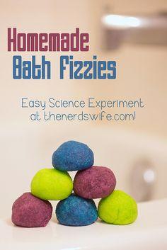 Homemade Bath Fizzies Science Experiment with Netflix #NetflixKids