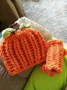 Crochet Pumpkin Hat by SierrasCrochet on Etsy, $13.00