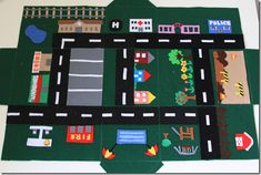 Lovely tutorial on how to make a take along map for playing with cars. I  wish I had had one of these when I was a kid.