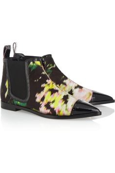 Nicholas Kirkwood | + Erdem printed silk chelsea boots | NET-A-PORTER.COM