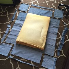 Denim Dog Bed – In Progress – Famous Last Words Jean Crafts, Denim Crafts, Green Bean Bags, Diy Dog Bed, Dog Beds, Dog Pillow Bed, Denim Ideas, Dog Rooms, Recycle Jeans