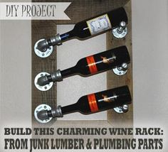 diy+industrial+wine+rack | Awesome industrial wine rack anyone can make