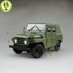 84.55$  Buy here - http://ali1n8.worldwells.pw/go.php?t=32754526315 - 1/18 China BeiJing BJC JEEP 212 SUV Diecast alloy suv car model Green 84.55$
