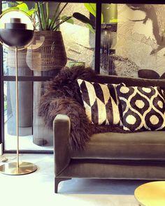 Gubi Multi-Lite lamp, Macazz Como Sofa, & Ikat cushions Ikat, Cushions, Sofa, Spaces, Furniture, Home Decor, Houses, Throw Pillows, Settee