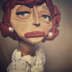 Raquel #ladynumber4 #puppets #shortfilm #puppetanimation #animation  #stopmotion #design #characterdesign #puppetdesign #polymerclay #art #sculpture #figurine